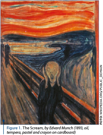 Figure 1. The Scream, by Edvard Munch (1893, oil, tempera, pastel and crayon on cardboard)